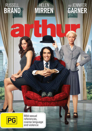 1 of 1 - Arthur (2011) DVD BRAND NEW SEALED Russell Brand Helen Mirren Jennifer Garner R4