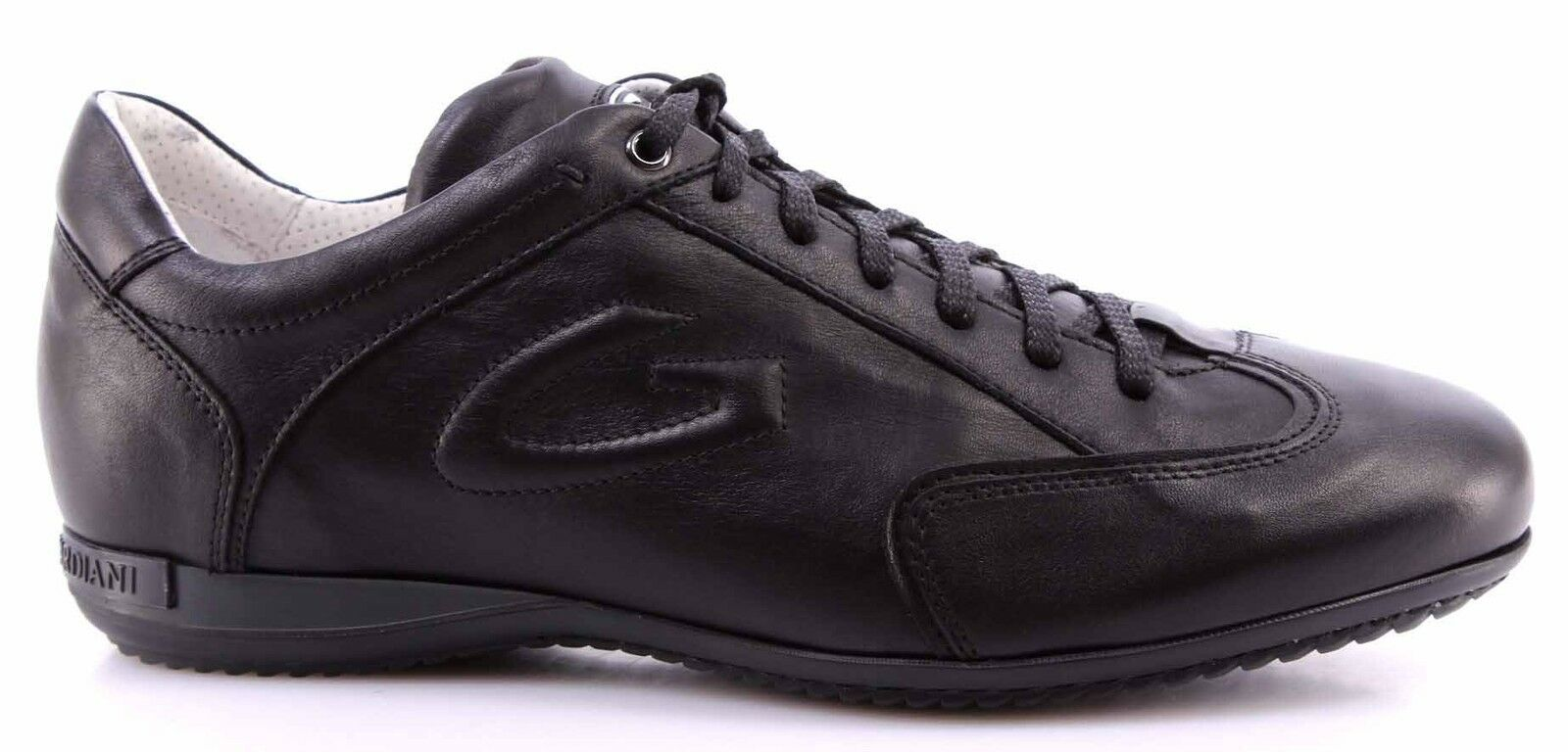 Herren Schuhe Sneakers ALBERTO GUARDIANI Sport Man Shoe Adler Schwarz Made Italy