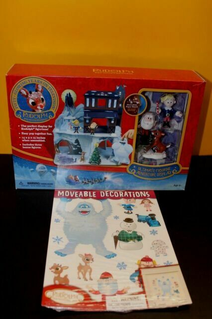 Rudolph the Red-Nosed Reindeer Ultimate Figurine Adventure Display Set with Bonus Figures