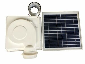 SOLAR VENT FAN DC MOTOR VENTILATOR USED FOR  BOATS CARAVAN BATHROOM GREEN HOUSE