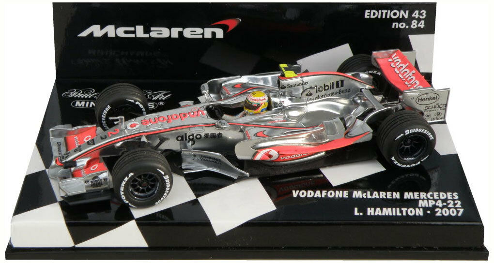 Minichamps McLaren MP4-22 2007 carrera versión-Lewis Hamilton Escala 1 43