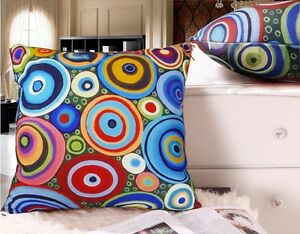 Hoops-VELVET-PILLOW-COVER-FOLK-ART-Abstract-CIRCLES-Various-Sizes-KARLA-GERARD