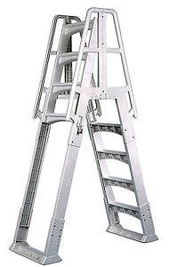 vinyl works slide lock a frame above ground pool ladder white ebay
