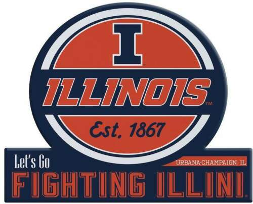 Illinois Illini vinyl sticker for skateboard luggage laptop tumblers car c