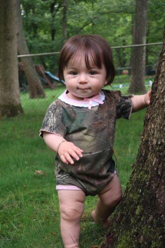 JUMPSUIT INFANT COTTON CAMOUFLAGE //CAMO /& PINK BODY SUIT// UNDERSHIRT ROMPER