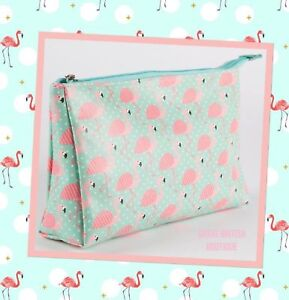 Quirky-And-Fun-Pretty-Pink-Flamingo-Wash-Cosmetic-Make-Up-Bag-Sasse-amp-Belle