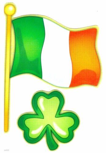 shamrock irish flag wall safe sticker St patricks day border cut out 6 to 9 inch