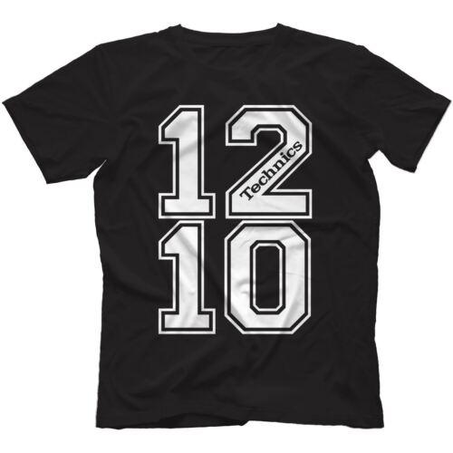 SL-1210 DJ T-Shirt 100/% Cotton MK2 MK3 MK4 MK5 MK6 1200 Turntables