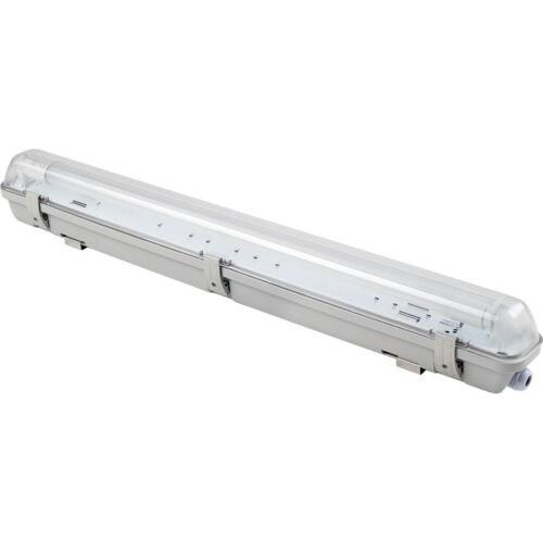 LED Feuchtraumwannenleuchte 9W = 18W 850 Lumen 4000K kaltweiß mit LED Glasröhre