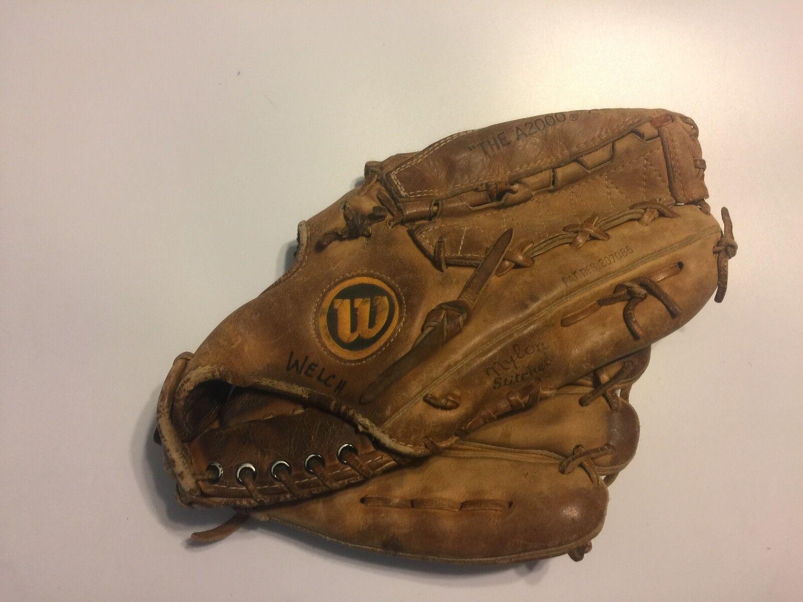 De Colección Wilson A2000 XL Cuero Marrón Guante de béisbol Japón lanzador de mano derecha