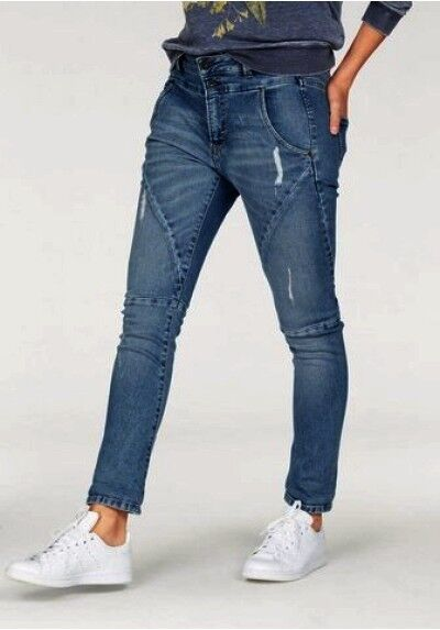 PEPE JEANS LONDON Topsy NUOVO blu used Tapered Tapered Tapered Fit Donna Pantaloni Stretch Denim Long c200a1