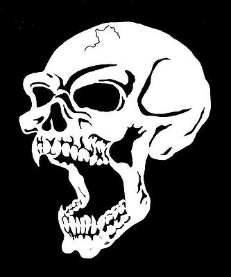 high detail airbrush stencil  skull 45 FREE UK POSTAGE