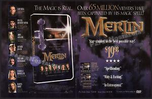 MERLIN__Original 1998 Trade AD / ADVERT__Sam Neill__Rutger Hauer__TV mini-series