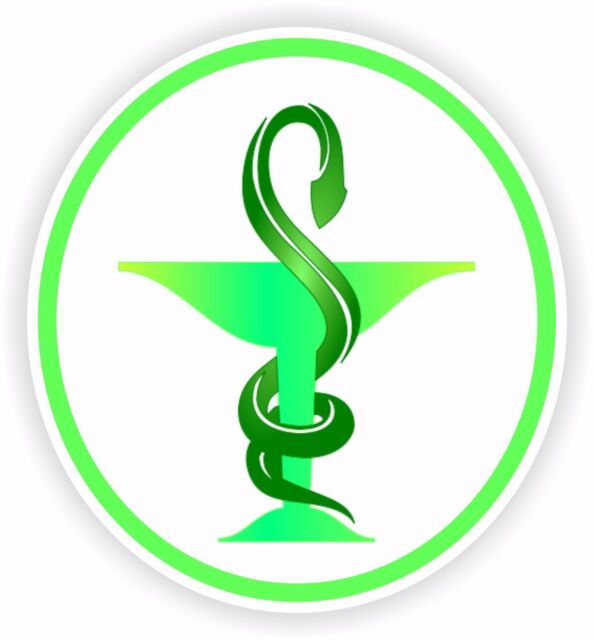 1x Sticker Medical Caduceus Pharmacy Logo Vinyl For Shop Work Truck