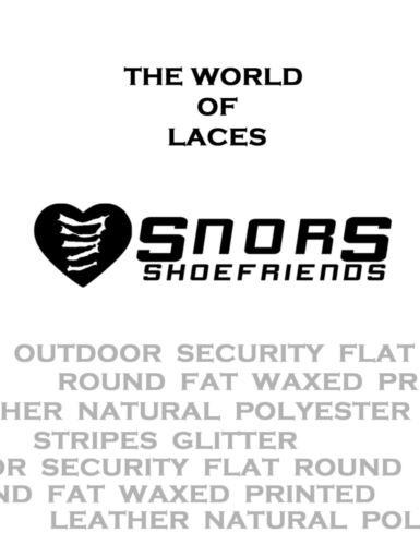 SNORS shoefriends Dentelles 2 Longeur GRIS CLAIRE LACETS CIRÉS PLATS