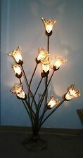 MODERN  WROUGHT IRON FLOOR LAMP &11 PURPLE  GLASS SHADES EUROPE/ROMANIA