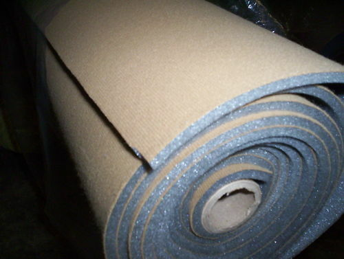 Two Yards  Auto Headliner Fabric with a Foam Backing 65 x 60 wide SaddleTan