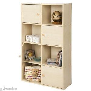 Shelf Bookcase Bookshelf Storage Furniture Book Wood 2 Case 4 Shelves Office New