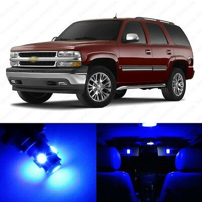 18 x Blue LED Interior Light Package For 2000 - 2006 Chevy Tahoe + PRY TOOL