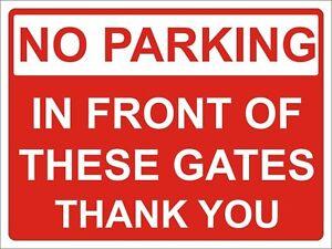 Stationnement Interdit Devant Ces Portes Signe Rigide 5 Mm 300 Mm X 400 Mm Poli Avis-afficher Le Titre D'origine Jlsot0rv-07212449-209923158