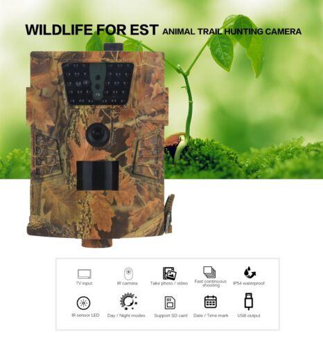 16MP HD 1080P Hunting Trail Camera Video Wildlife Scouting IR Night Vision Cam
