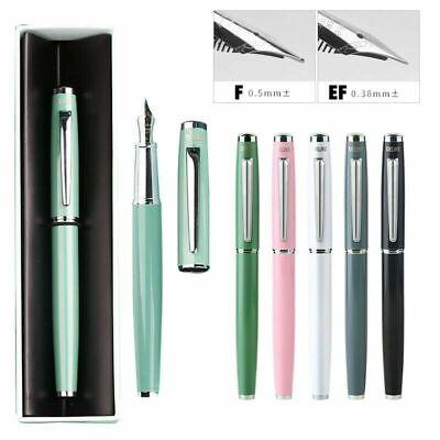 DELIKE Green Metal Fountain Pen EF//0.38mm Nib Office Converter Writing Gift #s2