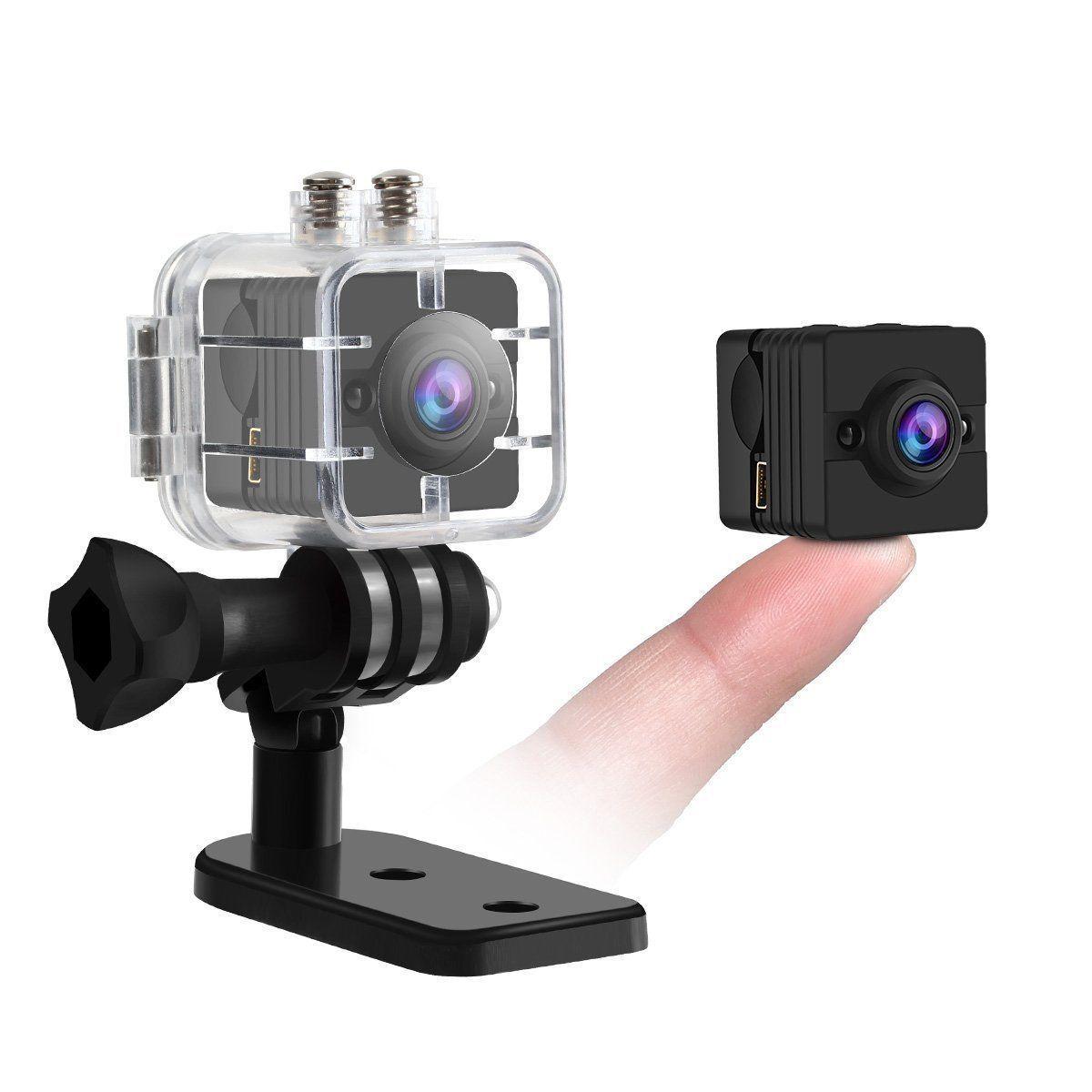 Nuevo Full HD Cámara Detector de Movimiento Visión Nocturna Impermeable Vídeo