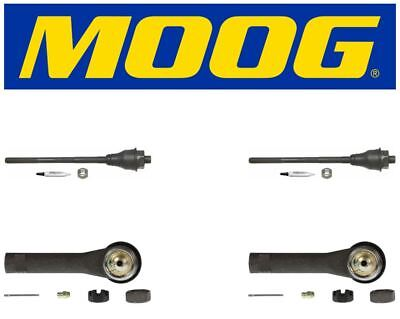 Moog 2 Inner /& 2 Outer Tie Rod End Kit 2000 GMC Sierra 1500 ES3488 ES3493T