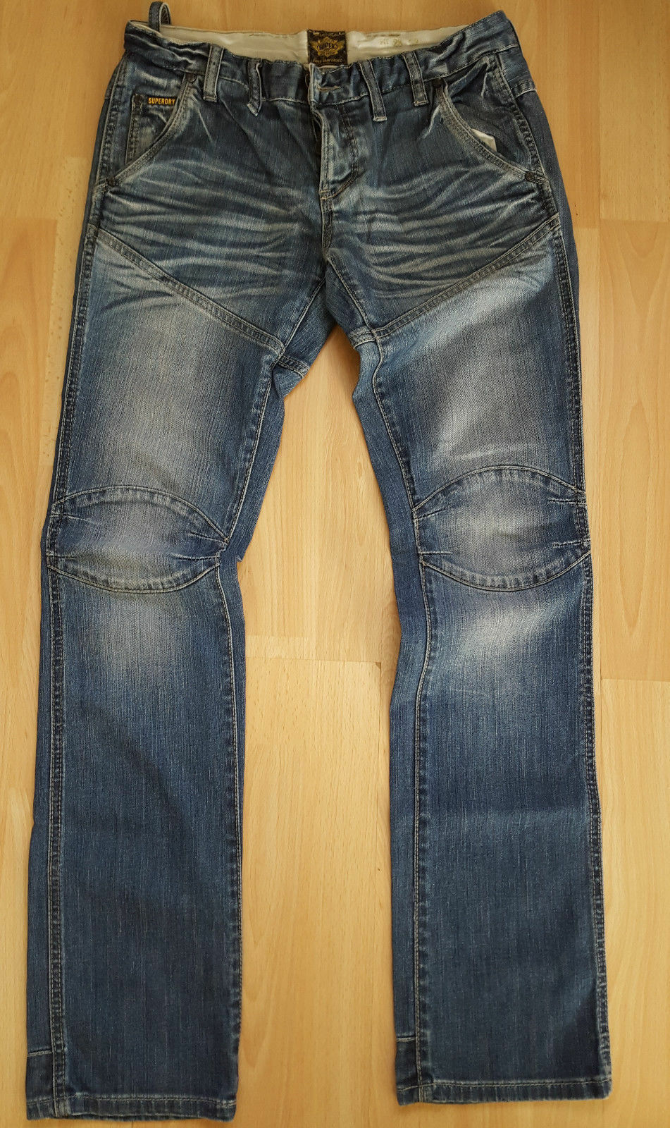 Superdry Biker Jeans Denim Super Sanforized bluee Size W28 L32
