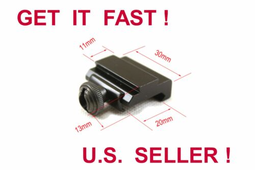 20mm to 11mm QD WEAVER PICATINNY BASE DOVETAIL ADAPTER TO PICATINNY RAIL
