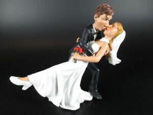 Funny-Figur-Wedding-Hochzeit-Braut-Braeutigam-DER-KUSS-13-cm-Neu