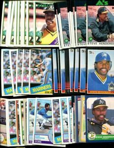 Details About Steve Henderson Bulk Lot Of 100 Baseball Cards Cubs Mariners Houston Texas Mets