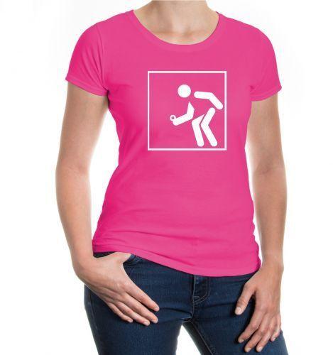Femmes Manches Courtes Fille T-shirt boule-SPORT-pictogramme France Ballsport Fanshirt