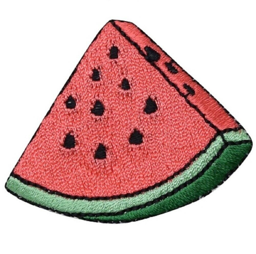 Light Blue Denim Melon Fruit Embroidery Patch