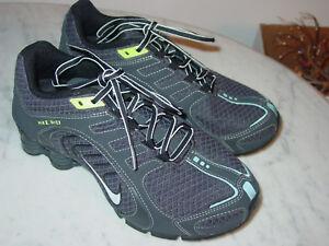 7e04e40db07b Image is loading 2011-Nike-Shox-Navina-Black-Green-Running-Shoes-