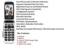 """Doro PhoneEasy 612 Purple Flip Fold Unlocked Mobile Phone """"12 Months Warranty"""""""