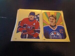 1986-87 OPC NHL Hockey Sticker #s 183 Wayne Gretzky & 123 Larry Robinson - HOF
