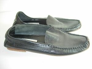WOMENS-BLACK-LEATHER-michael-kors-moccasins-LOAFERS-BALLET-FLATS-SHOES-SIZE-6-M