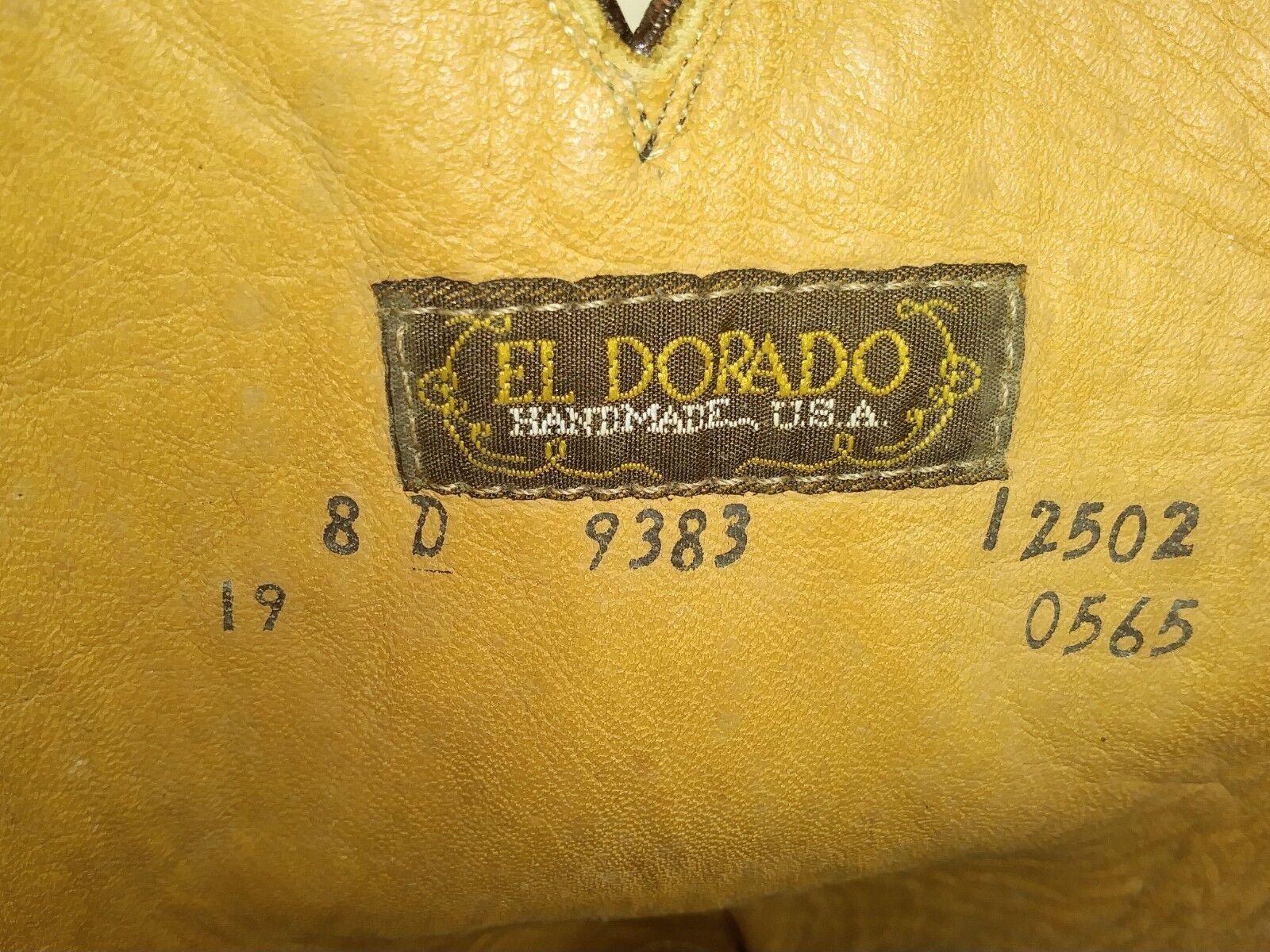 El El El Dorado 9383 Mens stivali US 8 D Burgundy Leather Cowboy Rockabilly 2485 b2cda6