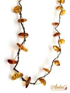 Collana-d-039-ambra-vera-baltica-Casual-Genuine-baltic-amber