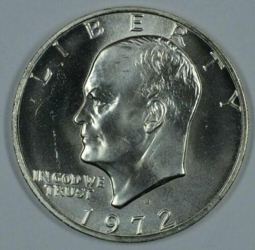 1972-S Proof 40/% Silver Eisenhower IKE Dollar Coin with Original US Mint Box