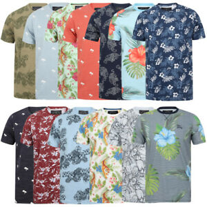 Tokyo-Laundry-Tropical-Print-Crew-Neck-T-Shirt-Hawaiian-Floral-Summer-Holiday
