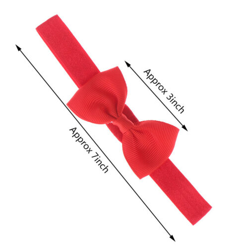 """10pcs Baby Girls Solid Ribbon Hair Bow Bandeaux Big Bow cheveux bandes pour bébé/"""""""
