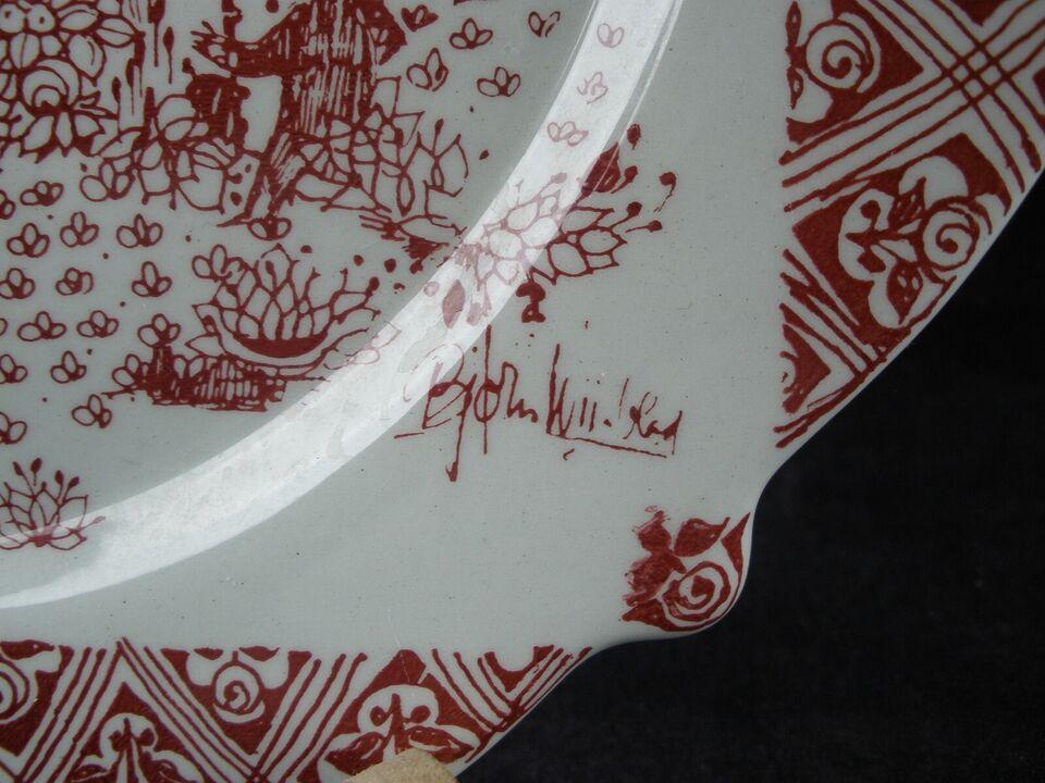 Bjørn Wiinblad Platte Med Motiv Fra Ermitagen, Nymølle