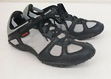 Diesel Whitney Black Leather & Silver Fashion Sneakers US 6.5 EU 36.5 GREAT LOOK