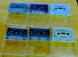 SET OF 6 CHRISTMAS CASSETTE TAPES --VARIOUS ARTISTS