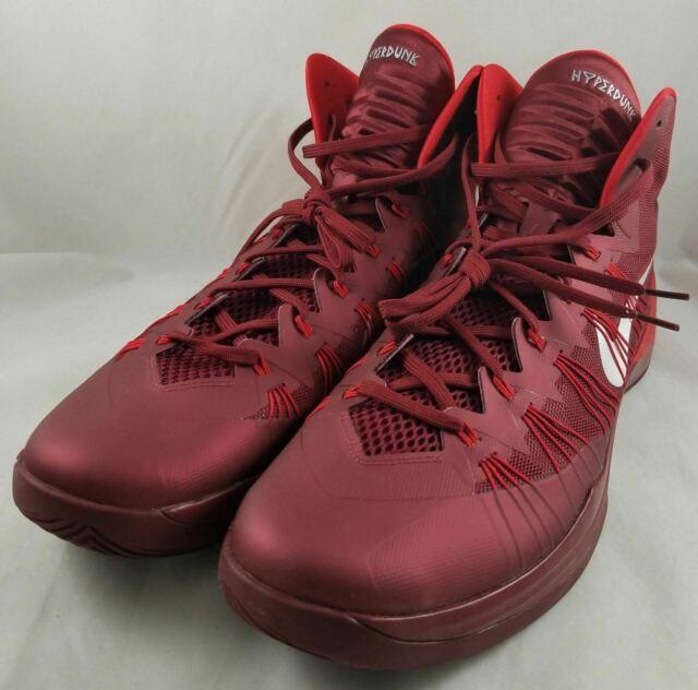 New NIKE Hyperdunk 2013 Men's Size 18 Basketball Shoes Team Red / University