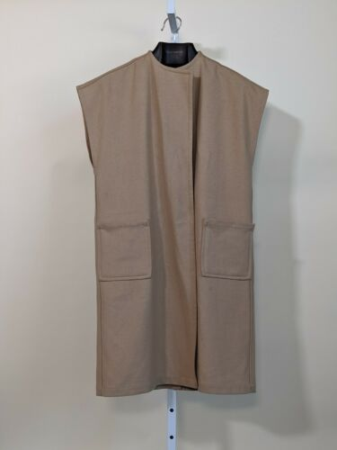 Electric Feathers Wool Camel Sleeveless Jacket Med