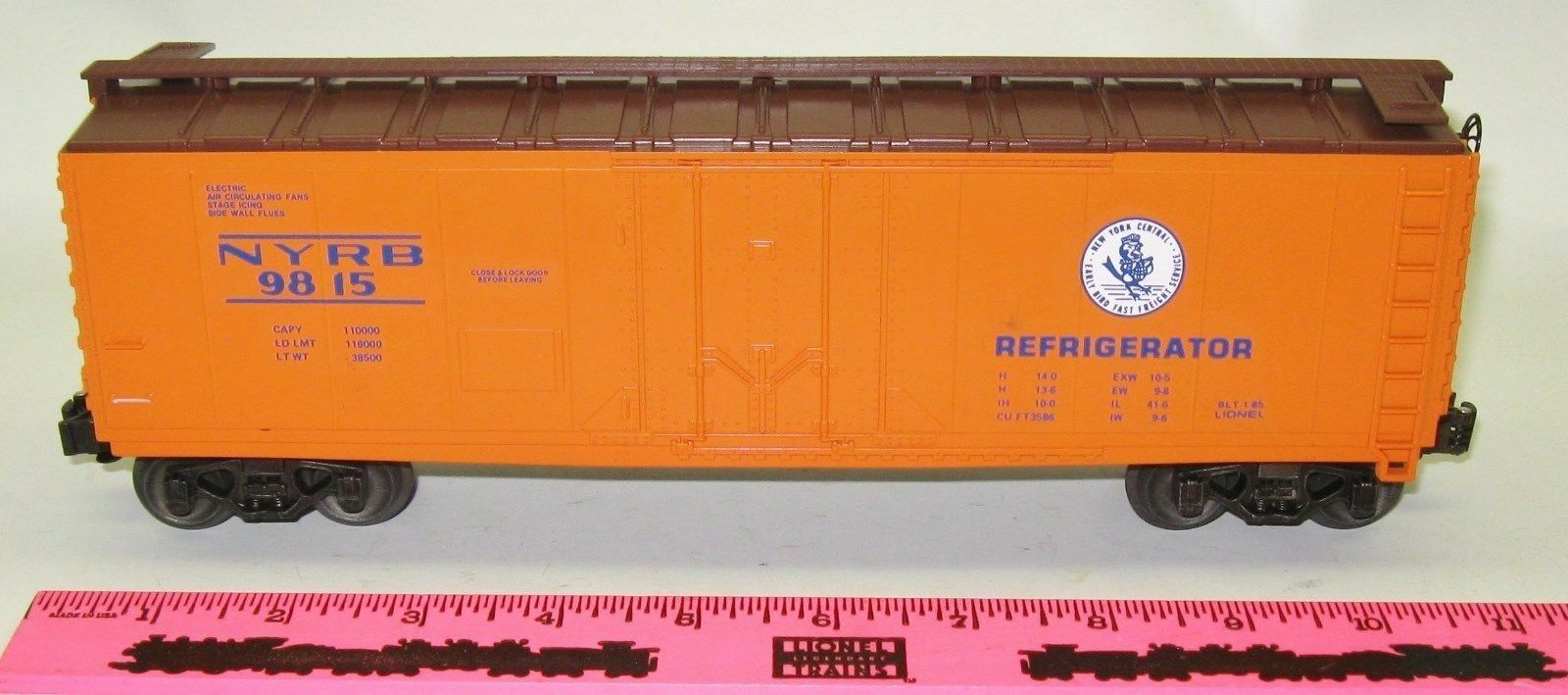 Lionel New 6-9815 NYC  Early Bird  reefer
