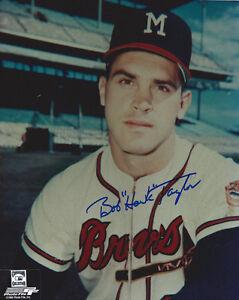 1957-BRAVES-Bob-Hawk-Taylor-signed-photo-AUTO-Autographed-8x10-Milwaukee